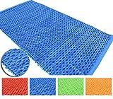 Malibu Tapis en coton PVC lavable pour salle de bain et cuisine 60 x 120 60 x 200 70 x 140 cm Antidérapant Tapis tressé avec insert en PVC Plusieurs couleurs Lavable en machine à 30° 70x140cm bleu