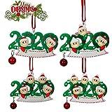 LINGSFIRE Decoraciones de Navidad Sobrevivió Familia Ornamento 2020 Personalizado DIY Ornamentos Ornamentos Colgantes de Árbol de Navidad Decoraciones de Vacaciones de Ornamento Familiar Decoración