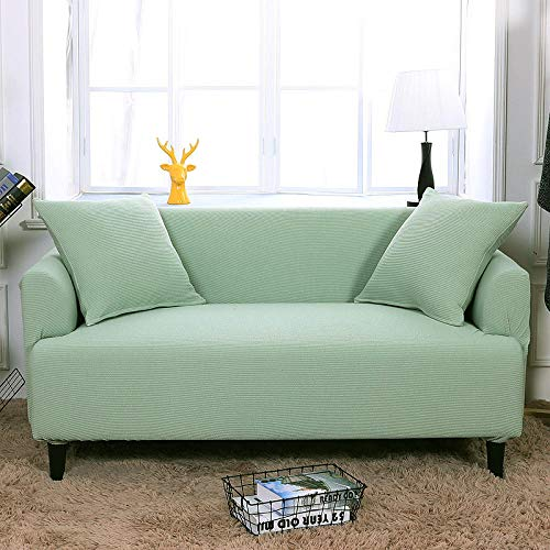 HXTSWGS Housse de Canapé d'angle Extensible,Elastic Sofa Cover, Living Room Sofa Cover, Elastic Furniture Cover-Crab Shell Green_145-185cm