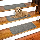 Ottomanson Softy Shag Carpet Stair Treads, 9' X 26, Gray, 7 Count