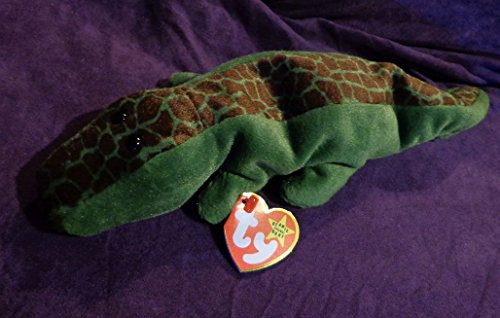 """RARE Retired """"Ally the Alligator"""" Ty Beanie Babies w/MINT tags, PVC Pellets, No # Stamp, (3) Errors"""