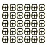 Mousyee Fibbie a Rullo in Metallo, 30 Pezzi Fibbie per Scarpe in Metallo da 12 mm Fibbie Quadrate in Metallo Fibbie ad Ardiglione per Fare Borsetta Borsa per Bagagli Accessori Fai da Te (Rame)