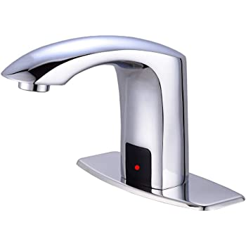 Gangang Touch Free Automatic Sensor Tap Sink Hot Cold Mixer Faucet by Automatic  Faucet (Chrome) - Touchless Bathroom Sink Faucets - Amazon.comAmazon.com