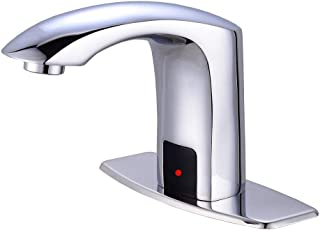 Gangang Touch Free Automatic Sensor Tap Sink Hot Cold Mixer Faucet by Automatic Faucet (chrome)