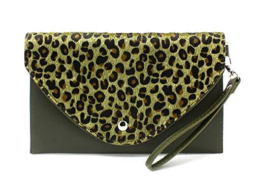 Dielay damestas met luipaardmotief - Clutch Panther - kunstleer - 24x15 cm