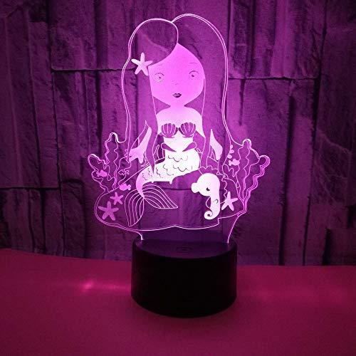 jiushixw 3D acryl nachtlampje met afstandsbediening van kleur veranderende tafellamp speelgoed Santa Light Wireless Light Flat Light