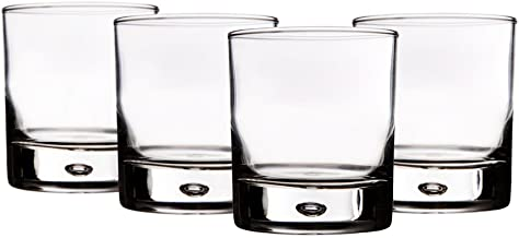 Home Essentials Red Series 10 Oz. Bubble-bottomed Round Cut Drinking Glasses, Set of 8
