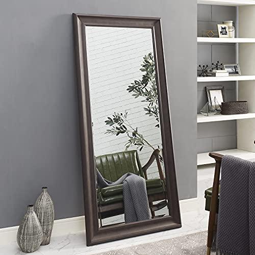 "Naomi Home Framed Floor Mirror Espresso/65 x 31"""