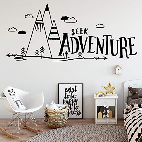 Vkjrro Aventura de Dibujos Animados Pegatinas de Pared Sala de Estar Dormitorio decoración del hogar Pegatinas de Pared Papel Pintado Impermeable 90x202cm