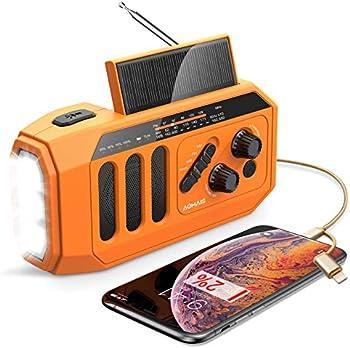 Emergency Radio 5000mAh Hand Crank Solar Weather Radio