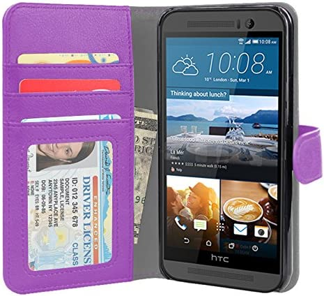new arrival Jumbl Slim Leather Wallet Case – Models Available for HTC outlet online sale M9 – Inner Hardshell Case high quality Offers Enhanced Protection - Purple online