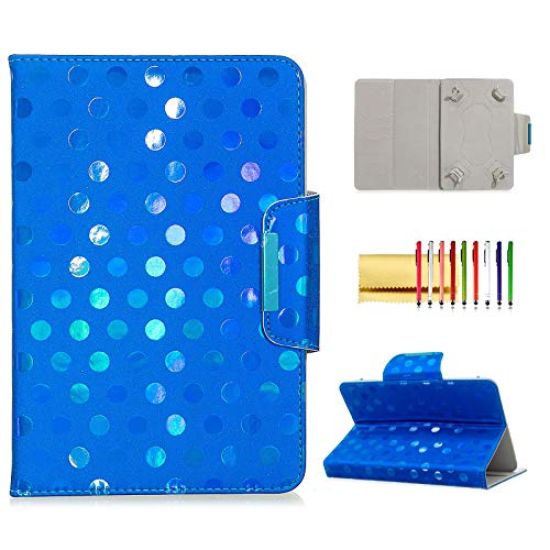 8-inch Tablet Universal Case, Techcircle Stand Folio Leather Flip Cover Book Protective Wallet Case with Card Holder, for iPad Mini/Amazon/Samsung/Lenovo Tab/ASUS/LG G Pad & More, Blue