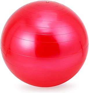 LANGMAN Stability Exercise Ball 65cm Yoga Balance Ball Great for Yoga Pilates Abdominal Workout Fitness Ball and Office Chair (Red)