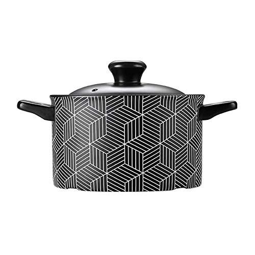Bdesign Casserol de cerámica Big Redondo Hogar con Tapa, Notstick Stockpot, Nutricional Lento Stew Pot, Olla de Sopa de calefacción, Sala de la Salud (Size : 2.5L)