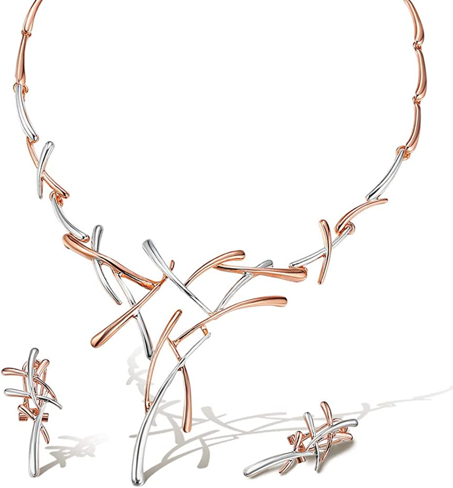 Viennois low-pricing Necklace Earrings Set for Choker Tone price Pendant Two Women