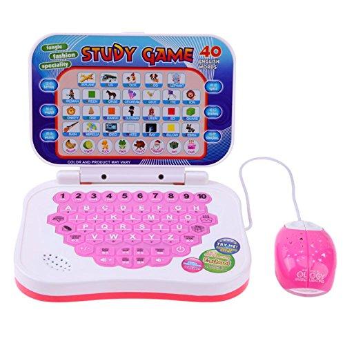 Domybest Zweisprachige frühe pädagogische Lernmaschine Kinder Laptop Spielzeug mit Maus