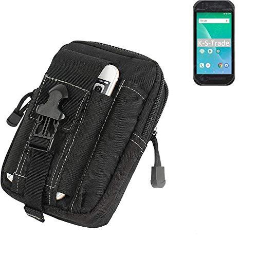 K-S-Trade® Gürtel Tasche Für Panasonic Toughbook P-01K Gürteltasche Holster Schutzhülle Handy Hülle Smartphone Outdoor Handyhülle Schwarz Zusatzfächer