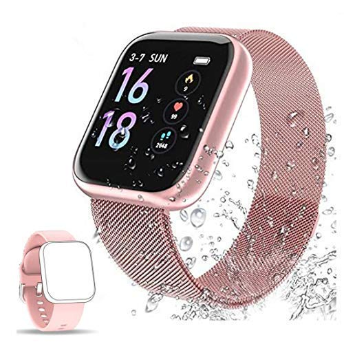 Reloj Conectado Mujer Hombre Smartwatch Reloj Deportivo Podómetro Monitor de frecuencia cardíaca Reloj Inteligente Cronómetro Impermeable Alarma-SQ01