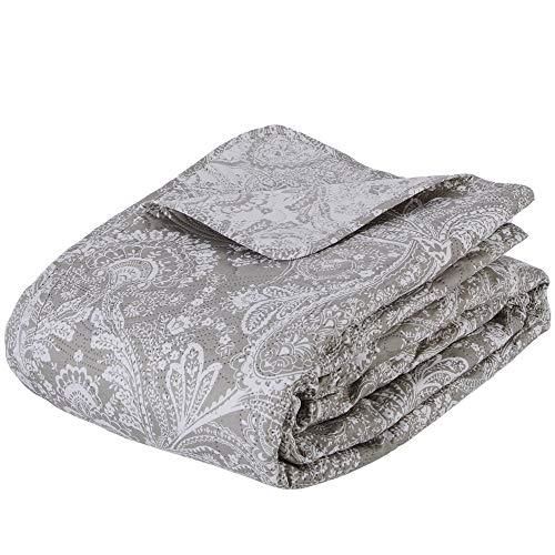 Colcha de lino 'Marie' 240x260 + 2 cabezales de almohada de lino 60x60