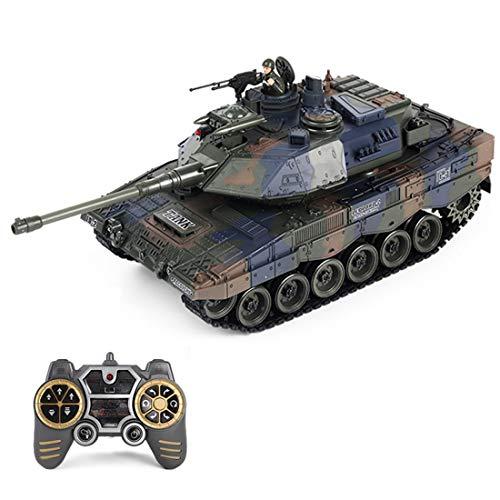 IT IF IT 2.4G RC Ferngesteuerter Panzer 1/18 Leopard 2A6 Tank, RC Panzer mit schussfunktion, Sound und Rauch für Kinder & Erwachsene