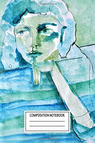 Composition Notebook: Paintings Wondering Girl Paintings And Graphics Wide Ruled Note Book, Diary, Planner, Journal for Writing