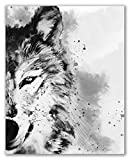 Wolf Watercolor, Forest Animal,Printable Art - 8' x 10' - Unframed, Wolf Poster, Black and White Watercolour, Black White Modern Printable, Woodland Decor, Forest Animal Modern Printable