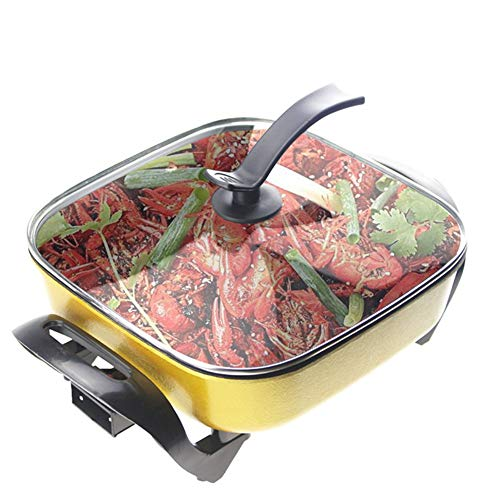 Multi-Function Electric Cooker, Made of Sturdy Aluminum, 360° Stereo Heating, Insulated, Non-Slip, Easy to Clean Best for Cooking Beef, Chicken, Fish