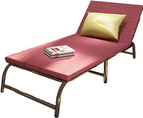 Liuliangmei Lit de Sofa Pliant Multifonctionnel, Chaise Pliante de Salon Adulte à la Maison Adulte, matériel d'éponge élastique élevé matériel de Tissu,187-70 Cm,A