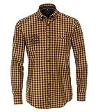 CASAMODA Camisa de cuadros Casual Fit. amarillo mostaza L