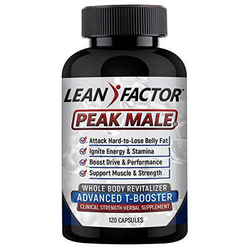 Peak Male: The Ultimate Men's Health Supplement - Raises T Levels, Builds Muscle & Strength, Boosts Energy & Reduces Stress - Powerful Adaptogenic Herb, Vitamin & Mineral Formula