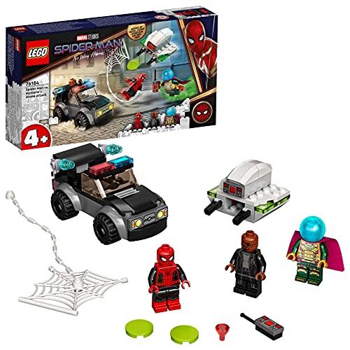 LEGO Marvel Spider-Man E L'Attacco Con Il Drone Di Mysterio , Set da Costruzione con Auto, Giocattoli per Bambini 4+ Anni, 76184