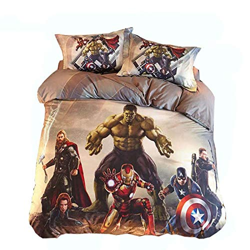 Fadaseo Duvet Covers Super King 3D Printing Movie Characters 3 Pieces Bedding Set. Easy Care And Super Soft Cotton Design.With 2 Pillowcases Hypoallergenic. Size 260 X 230 Cm