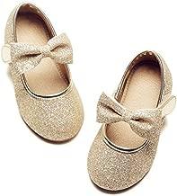 Felix & Flora Bear Mall Girls Mary Jane Ballet Flat Dress Shoe for Toddler/Little Kid Party School Shoe