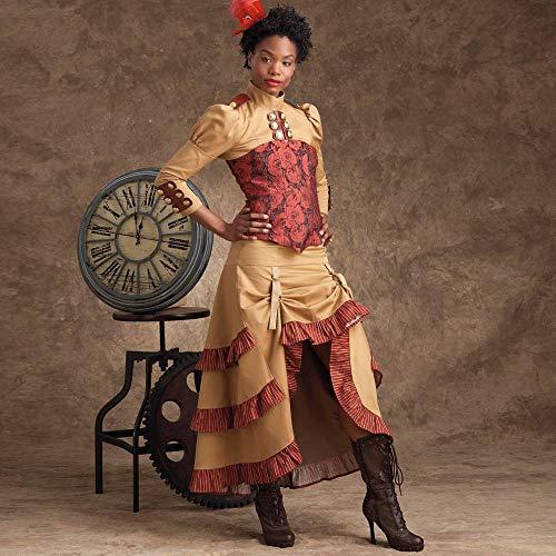 SIMPLICITY S9007 - Patrones de costura para disfraces de mujer Steampunk, papel, color blanco