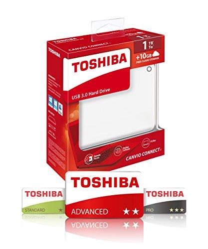 Toshiba Canvio Connect II - Disco duro externo de 1 TB (USB 3.0, 6,4 cm (2.5')), negro