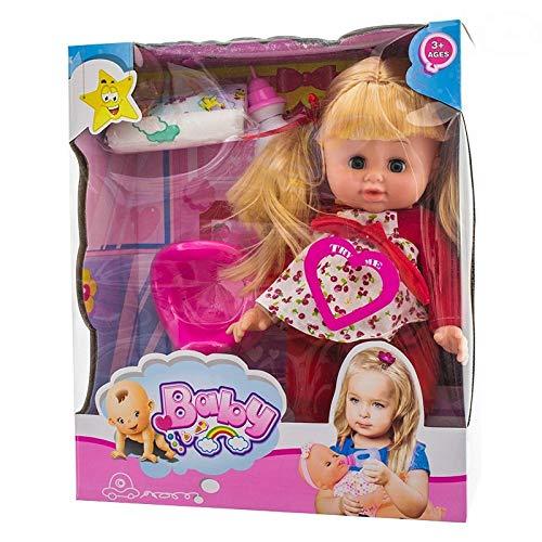 EUROBABY ZABAWKI Muñeca de bebé para niños, juguete para niños