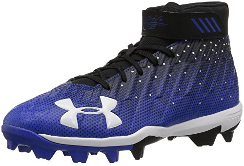Under Armour Boys' Harper 2 Jr. RM Baseball Shoe, Black (041)/Team Royal, 1