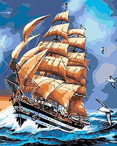 Pintura Por Números Kits Regalo Para Adultos Niños Diy Pintura Al Óleo Decoración Para El Hogar Casa Lagarto Multicolor 16X20 Pulgadas -With Frame
