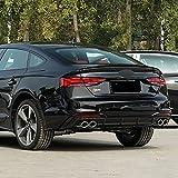Material ABS Alerón Trasero de Coche Maletero Techo, para Audi A5 S5 RS5 B9 Sportback Coupe 2017-2020 ala Labio Spoiler Tronco Cubierta Parachoques Cola Lip Accesorios de Estilo
