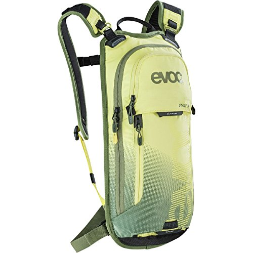 evoc Stage 3L + 2L Bladder Performance Rucksack, Yellow/Light Olive, 44 x 21 x 4 cm, 5 Liter
