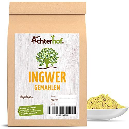 vom Achterhof Ingwer (1kg) Ingwerpulver Ingwerwurzel gemahlen auch für Ingwertee