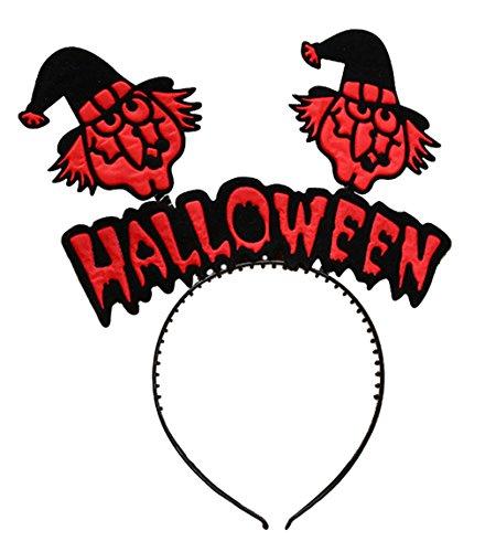 La Vogue Serre-Tête Mignon Déguisement Halloween Headband pour Enfant Fille Lettre Motif Sorcière