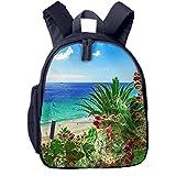 Mochila para Niños Playa de la Isla de Fuerteventura, Mochila Escuela Primaria de Edad Peso Ligero Pérdida Mochila de Viaje para Chico Chica