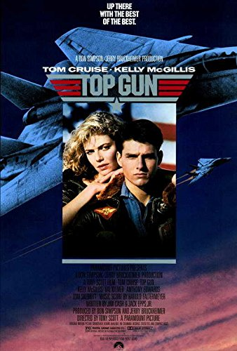 Top Gun Movie POSTER 27 x 40 Tom Cruise, Kelly McGillis, A, MADE IN THE U.S.A.