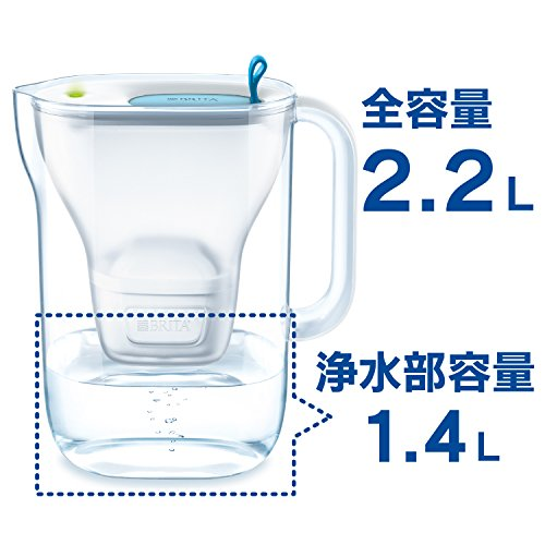 ブリタ浄水器ポット浄水部容量:1.4L(全容量:2.4L)スタイルブルーマクストラプラスカートリッジ1個付き【日本正規品】通常品塩素水垢不純物除去
