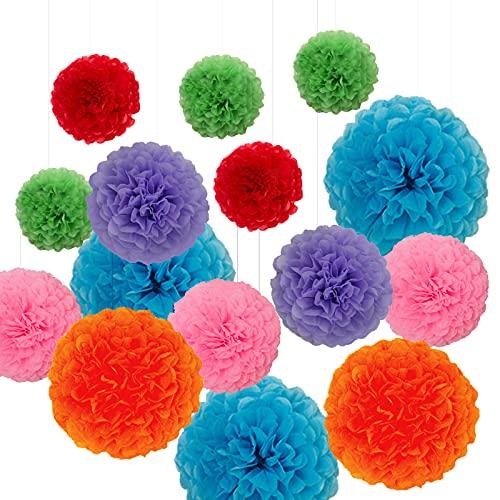 CALLA LILY Pompones De Toalla De Papel De Colores, Decoraciones De Flores...