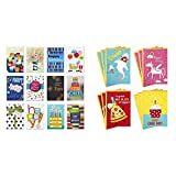 Hallmark Assorted Birthday Greeting Cards (12 Cards and Envelopes) & Birthday Cards for Kids Assortment, Shark and Unicorn (12 Cards with Envelopes)