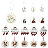 Christmas Tree Ornaments Personalized Holiday Family Decor Pendants Throw Everything Behind Wooden Festival Hanging Ornaments 2021 Christmas Memorial Gift for Friends and Families