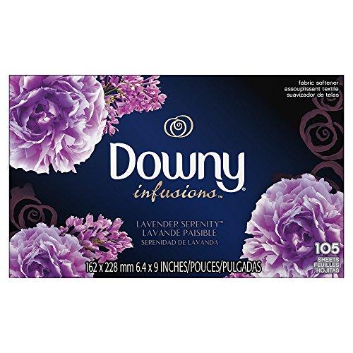 Downy (ウルトラダウニー) 乾燥機用柔軟仕上げシート インフュージョン ラベンダーセレニティ 105枚