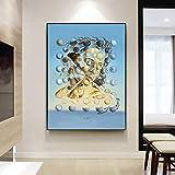 Pintura famosa Salvador Dali Galatea Esferas Pintura al óleo Impresión en lienzo Arte de la pared para la sala de estar Decoración del hogar Imagen 60x80cm (24x32in) Marco interior
